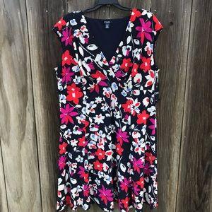 Chaps Floral Dress Size 18W